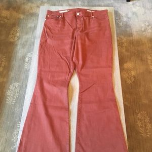 Gap Skinny Flare rust colored Jeans NWOT